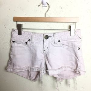 Free People Light Pink Cuffed Jean Shorts 26
